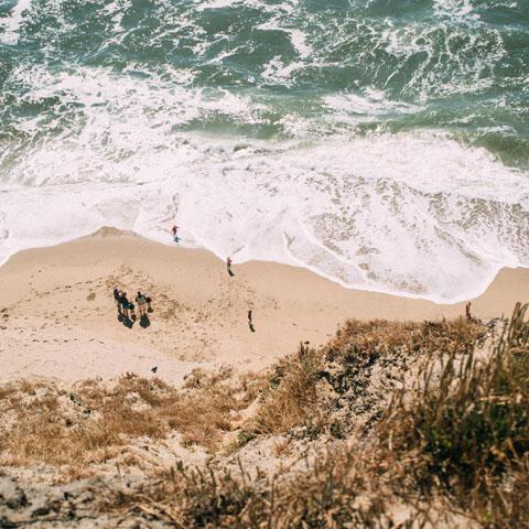 Vagues à la plage