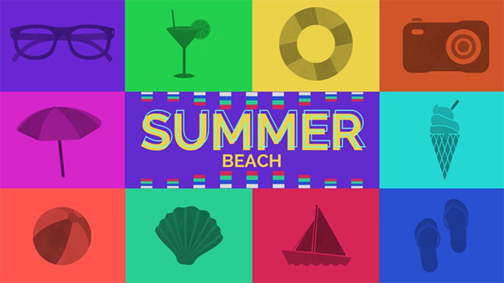 여름 해변 팩